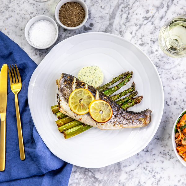Roasted Seabream with Asparagus