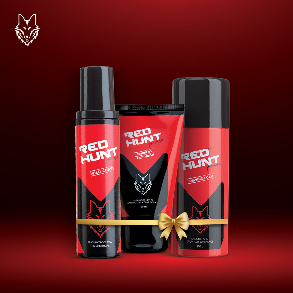 The Cool Hunt Combo for men Wild Chase + Fairness Face Wash + Shaving Foam