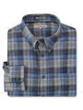 Foxfire L/S Flannel Shirt in Blue/Grey - Tall Man Sizes