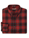 Foxfire L/S Flannel Shirt in Red - Big Man Sizes