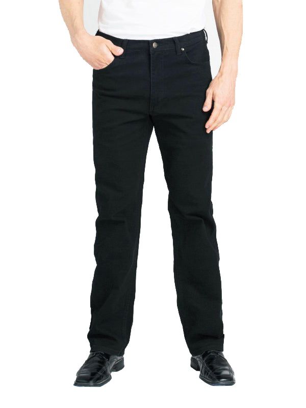 Grand River Stretch Jeans in Black - Regulars (32 - 42 Waist)