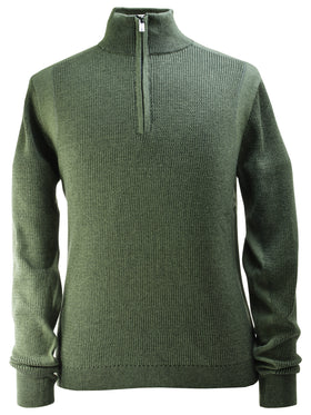 F/X Fusion Plaited Thermal Sweater in Greenstone