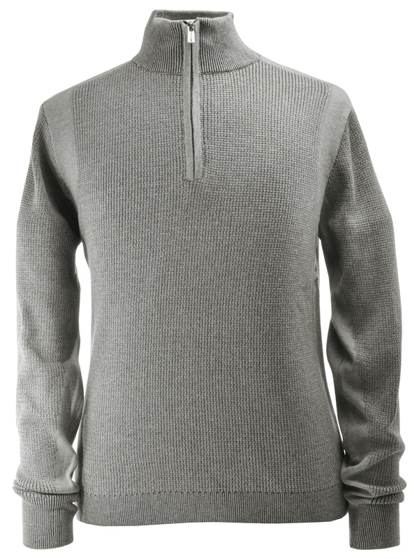 F/X Fusion Plaited Thermal Sweater in Grey