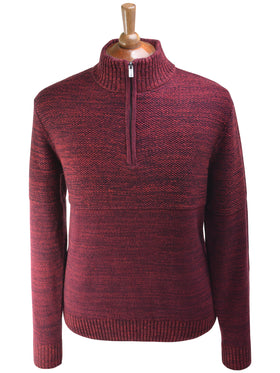 F/X Fusion 1/4 Zip Textured Mock in Red