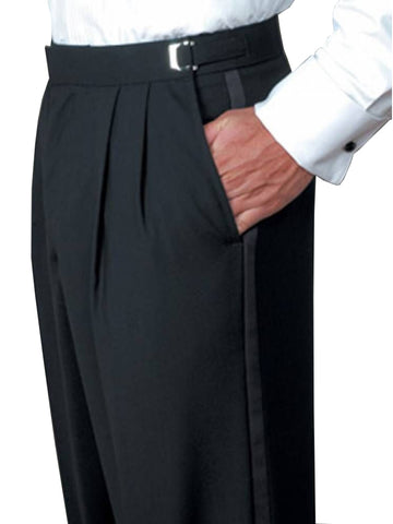 Men's 100% Polyester Tuxedo Pants - Regular Sizes