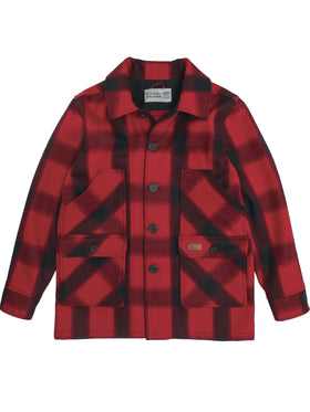 Stormy Kromer Mackinaw Coat in Red / Black Plaid
