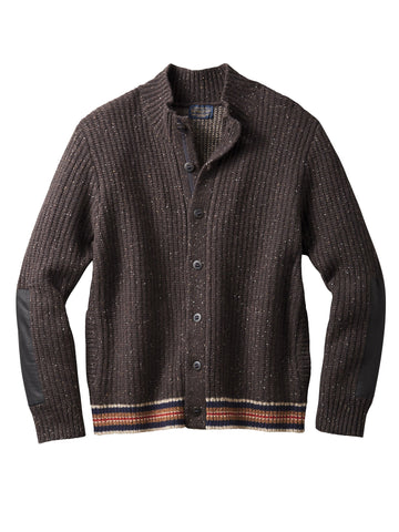 Pendleton Shelter Bay Cardigan Sweater in Brown