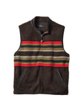 Pendleton Camp Stripe Fleece Vest in Brown