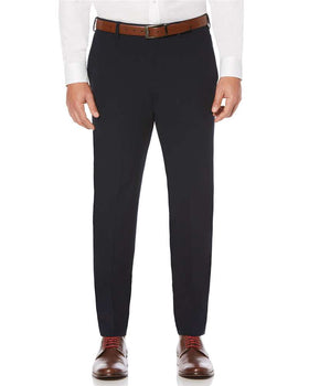 Kenneth Morton Polyester Viscose Short Man Pant in Navy
