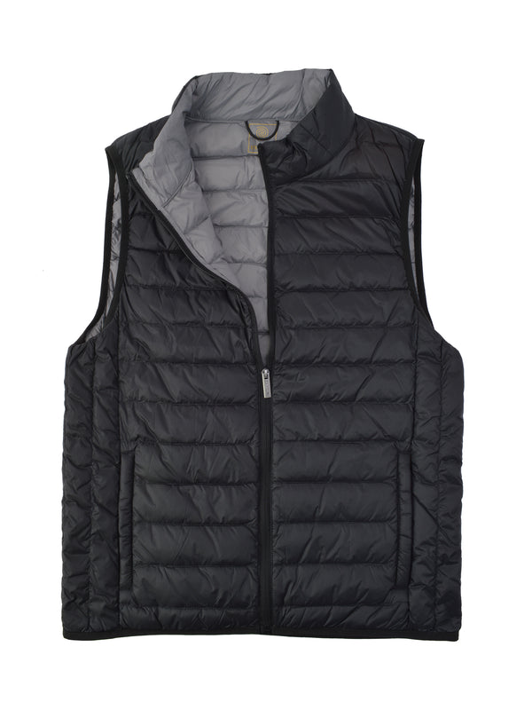 F/X Fusion Down Puffer Vest in Black - Tall Man Sizes