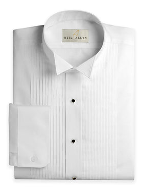 Men's Cotton Blend Wing Tip Tuxedo Shirts - Regula
