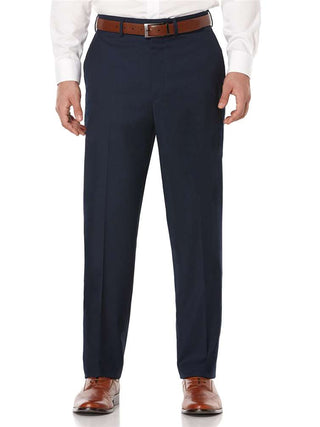 Kenneth Morton Wool Blend Plain Front Pants - Short Man Sizes