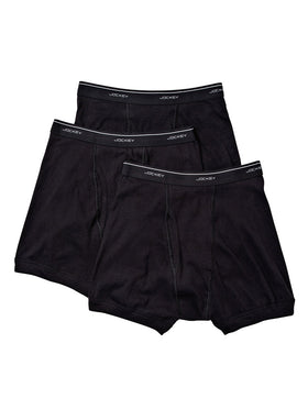 Jockey 3-Pack Men's Classic Boxer Briefs in Black