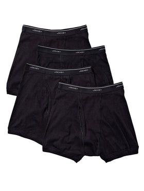 Jockey 4-Pack Men's Classic Boxer Briefs in Black
