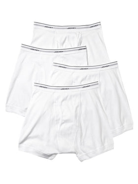 Jockey 4-Pack Men's Classic Boxer Briefs in White