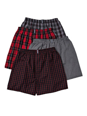 Jockey Full Cut Men's Boxers 4-Pack in Bruce Plaid