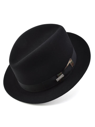 Dobbs First Class Fedora in Black