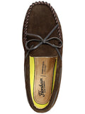 Florsheim Cozzy Tie Slipper in Chocolate - Medium Width