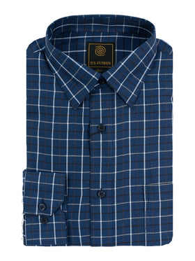 F/X Fusion Multi Check Flannel Shirt in Tall Man Sizes