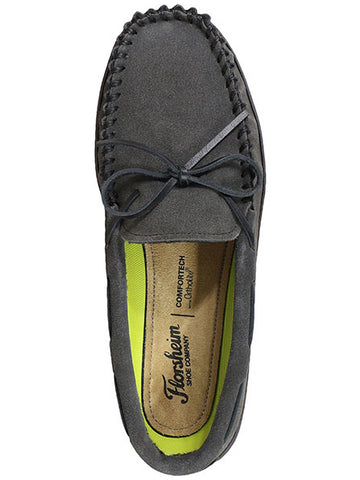 Florsheim Cozzy Tie Slipper in Gray - Medium Width