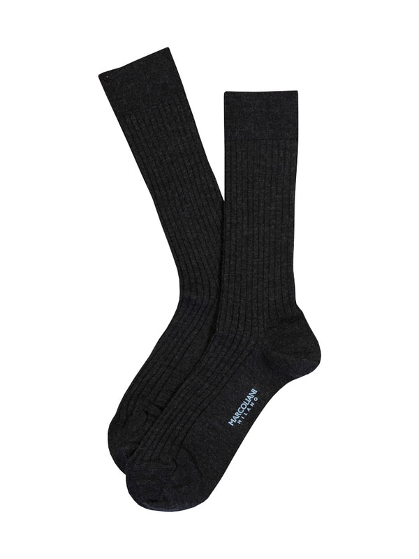 Marcoliani Milano Italian Sock in Charcoal