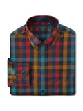 Leo Chevalier L/S Non-Iron Sport Shirt in Multi - Tall Man Sizes
