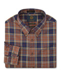 Viyella Wool Blend Sportshirt in Brown - Tall Man Sizes