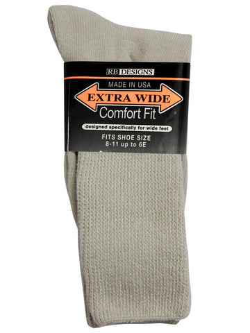 Extra Wide Men's Comfort Fit Athletic Crew Socks i