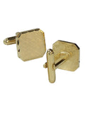 Status Men's Brushed Cufflinks in Gold