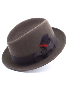 Dobbs 100% Wool Felt Men's Randall Hats in Coffee