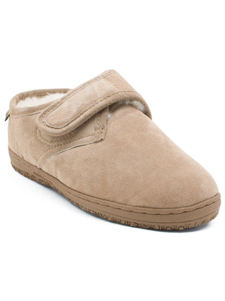 Old Friend's Men's Adjustable Closure Bootee Slippers - Wide Widths (3E)