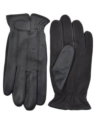 Lauer Sheepskin Leather Driving Gloves by Milwaukee in Black - 1807-BLK