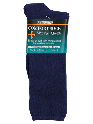 KB Designs Men's Comfort Dress Socks - Shoe Sizes 8 - 12