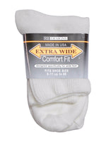 Extra Wide Men's Quarter Sock - Shoe Sizes 8 - 11