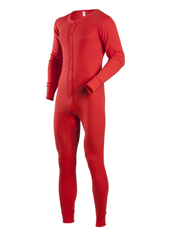 Coldmast Union Suits in Red - 865-B - Tall Man Siz