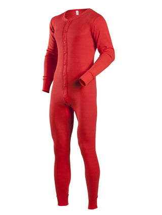 Coldmast Union Suits in Red - 865-R - Regular Sizes
