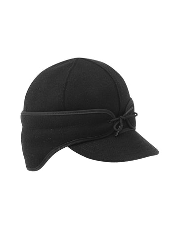 Stormy Kromer Rancher Caps With Ear Band in Black