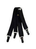 "3/4"" Black Straight Shirt Garters"