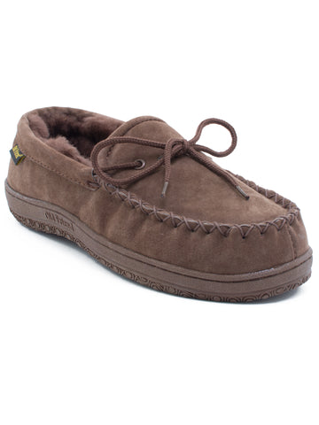 Old Friend's Men's Loafer Moccasin Slippers - Dark