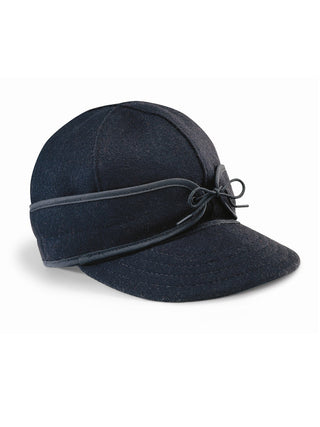 Origional Stormy Kromer Caps With Ear Band in Black - 50010-BLK