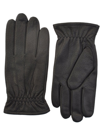 Lauer Men's Deerskin Leather Gloves in Black - 143