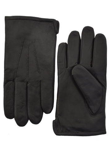 Lauer Men's Leather Lauer Gloves in Black - 1854-B