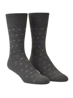Euro Choice Diamond Pattern Cushion Sole Socks - R