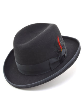 Dobbs 100% Wool Felt Fleetwood Hats in Black