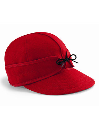 Origional Stormy Kromer Caps With Ear Band in Red - 50010-RED
