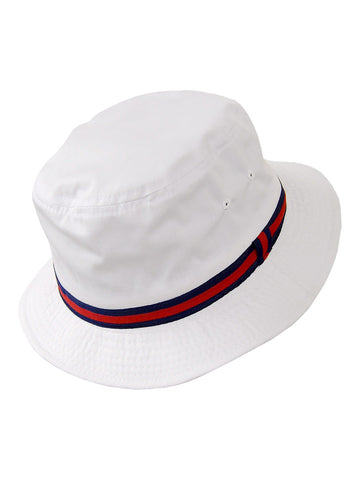 Dorfman Pacific Deluxe Bucket Rain Hats in White -