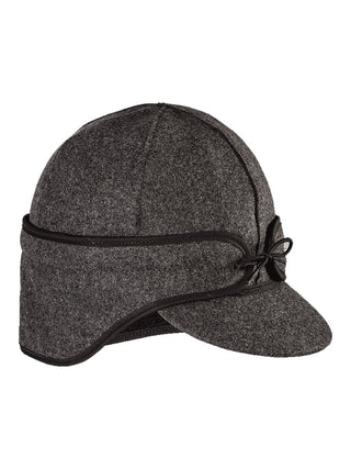 Stormy Kromer Rancher Caps With Ear Band in Charcoal - 50500-CHA
