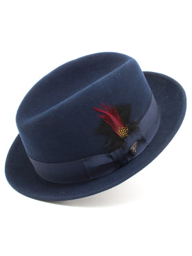 Dobbs 100% Wool Felt Men's Randall Hats in Navy