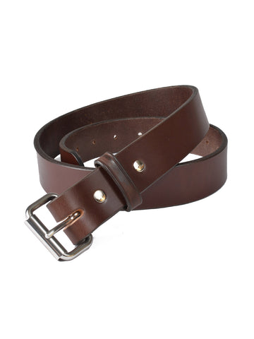 P&B Harness Full Grain Leather Belts in Brown 310-