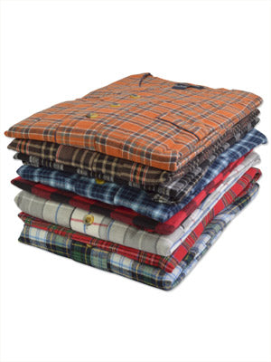 Foxfire 100% Cotton Flannel Men's Nightshirts - Bi